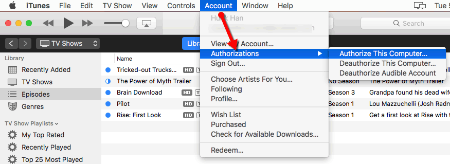 authorize Virtual macOS Sierra