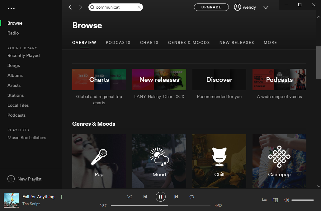 sign in Spotify app